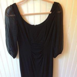Kay Unger New York Black Midi Dress